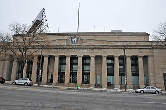 North Broad station - The former Reading Railroad North Broad station house on Broad Street.