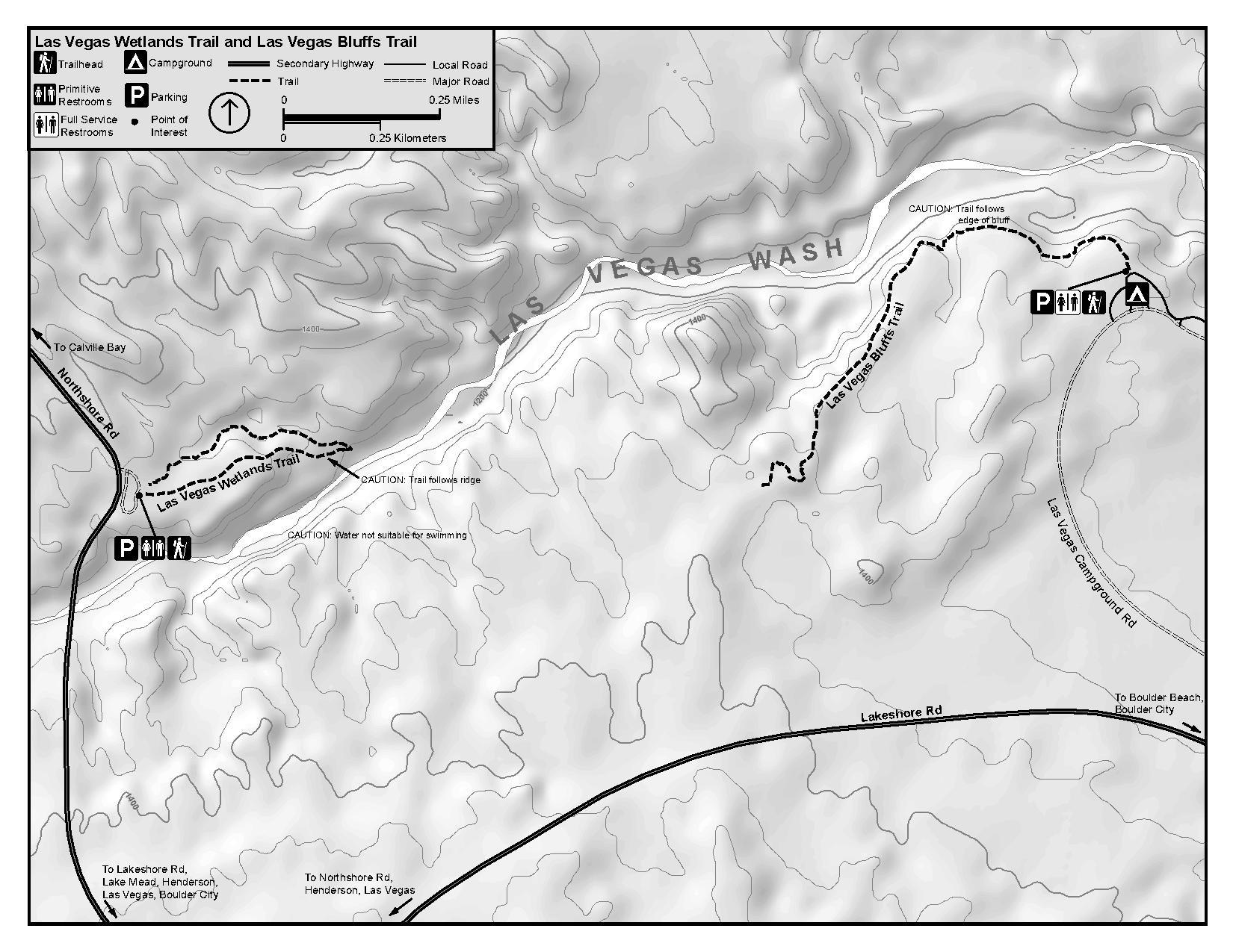 File Nps Lake Mead Las Vegas Wetlands Bluffs Trail Map Pdf