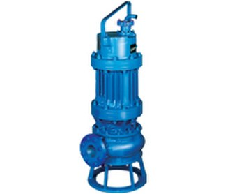 Submersible pump - One style of submersible pump for industrial use. Outlet pipe and electrical cable not connected.