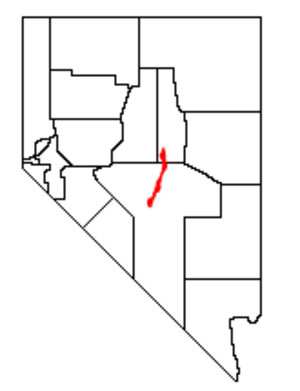 Monitor Range - Location of the Monitor Range within Nevada