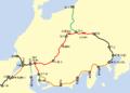 Nakasendo ando Tokaido railway map ja.png
