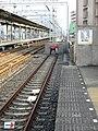 Nankai Kishizatotamade Station platform - panoramio (3).jpg