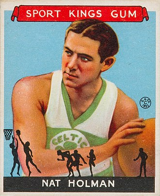 Nat Holman - Nat Holman 1933 Goudey Sport Kings card