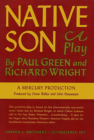 Native Son (play) - First edition 1941