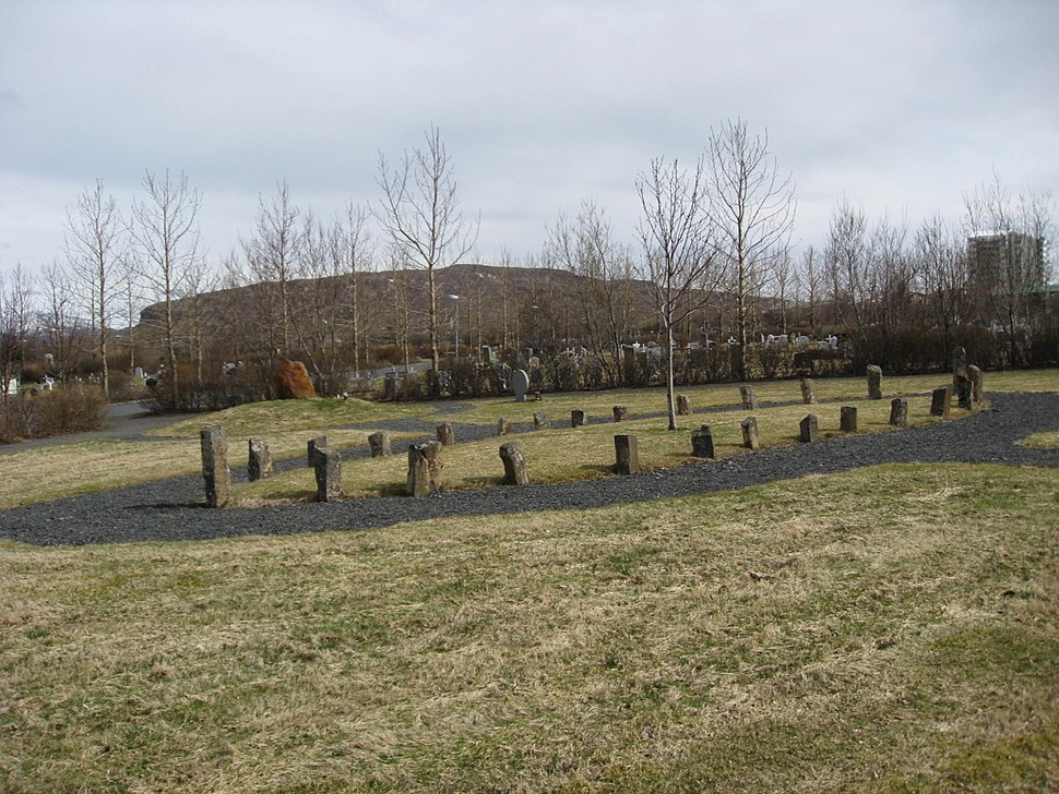 Neopagan graveyard from the other side