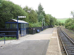 Newhey tram stop - Image: New Hey Station Facilities
