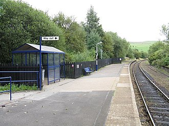 Newhey tram stop - Image: New Hey Station Facilities