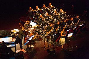 Brussels Jazz Orchestra - Concert 'New York, City of Jazz' by the Brussels Jazz Orchestra with Tutu Puoane, at Heist-op-den-Berg in 2014