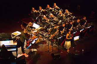 Brussels Jazz Orchestra - Concert 'New York, City of Jazz' by the Brussels Jazz Orchestra with Tutu Puoane, at Heist-op-den-Berg in 2014