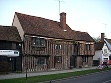 Vernacular Architecture on Monks  Barn  Newport  Essex  Showing A Brick Filling In Herringbone