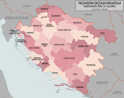 Counties Of The Independent State Of Croatia Wikipedia