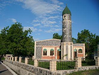 Nij, Azerbaijan - Image: Nic qəsəbəsi Yalaşlı məhəllə Cümə Məscidi