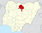 Map of Nigeria highlighting Kano State