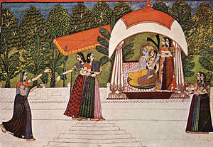 Rajput painting - An 18th-century Rajput painting by the artist Nihâl Chand.