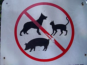 No animals sign