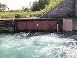 No swimming, Sault Canal downstream lock.JPG