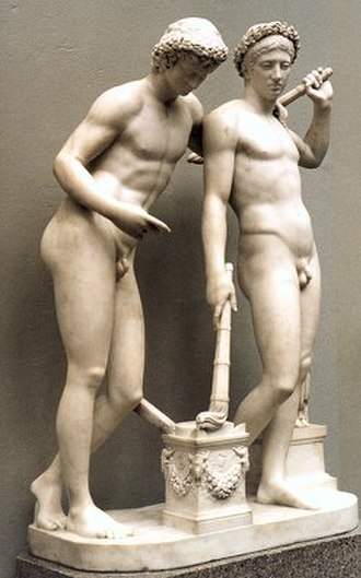 Joseph Nollekens - Castor and Pollux; copy of an antique statue by Joseph Nollekens, Victoria and Albert Museum