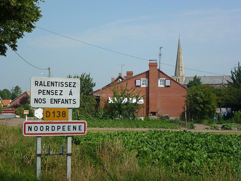 Noordpeene (Nord, Fr) city limit sign