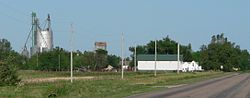 Norman, seen from the east on Nebraska Highway 74.