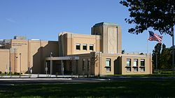 North College Hill (OH) High School, from the south, 2011.JPG