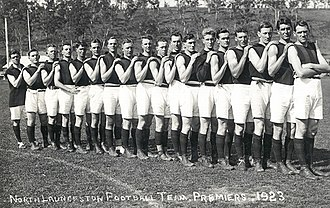 Northern Tasmanian Football Association (1886–1986) - The North Launceston Football Club in 1923