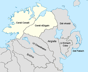 Northern Uí Néill - Sub-kingdoms of the Northern Ui Neill and some of its neighbours in the 12th century