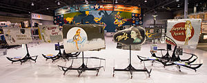 CAF Airpower Museum - A portion of the CAF Museum's collection of authentic World War II Nose Art. The collection is currently on loan to the EAA AirVenture Museum located in Oshkosh, Wisconsin.