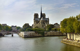 4th arrondissement of Paris - Notre-Dame, on the Île de la Cité in the 4th arrondissement.
