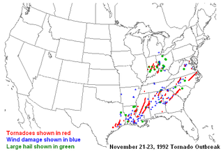 Tornado outbreak of November 1992