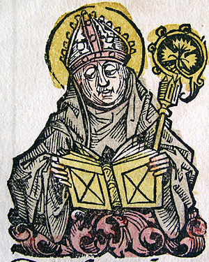 Edmund of Abingdon - Image of Edmund from the Nuremberg Chronicle (1493)