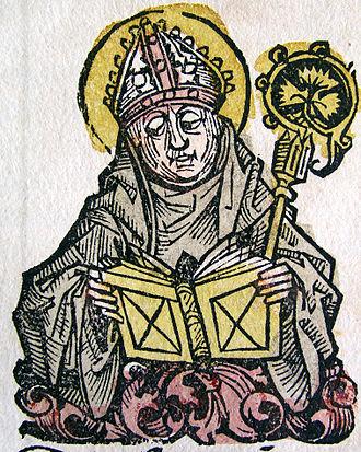 Edmund of Abingdon - Image of Edmund from the Nuremberg Chronicle (1493)