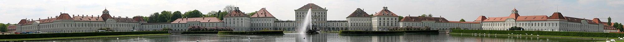 Panorámakép a Nymphenburgi kastélyról