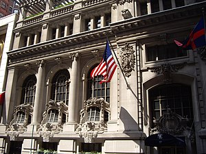 New York Yacht Club - New York Clubhouse, 37 W. 44th St.