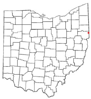 East Palestine, Ohio - Image: OH Map doton East Palestine