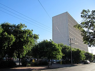 Collinswood, South Australia - ABC building seen from west