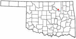Location of Prue, Oklahoma