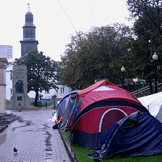 Grand Parade (Halifax) - Occupy Nova Scotia camp at Halifax's Grand Parade