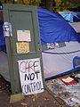 Occupy Portland November 9 door and signs.jpg