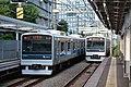 Odakyu 3000 series (2nd gen) at Minami-Shinjuku Station 2016-10-07 (30540145702).jpg