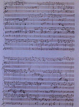 Bardengesang auf Gibraltar: O Calpe! Dir donnert's am Fuße - Manuscript of the fragment