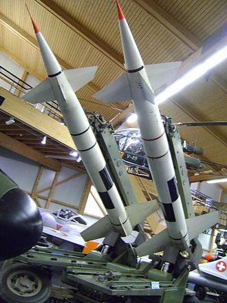 Flieger-Flab-Museum - Launcher with 2 Oerlikon RSE Kriens Lenkwaffen at Fliegermuseum Dübendorf