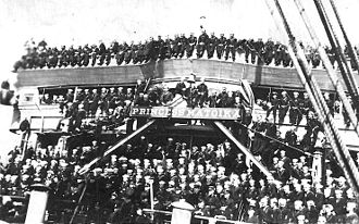 USS Princess Matoika - Officers and crew of Princess Matoika in 1918