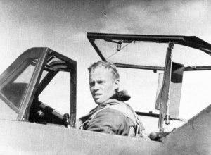 Olavi Puro - Puro in the cockpit of his Bf 109 during mid-1944