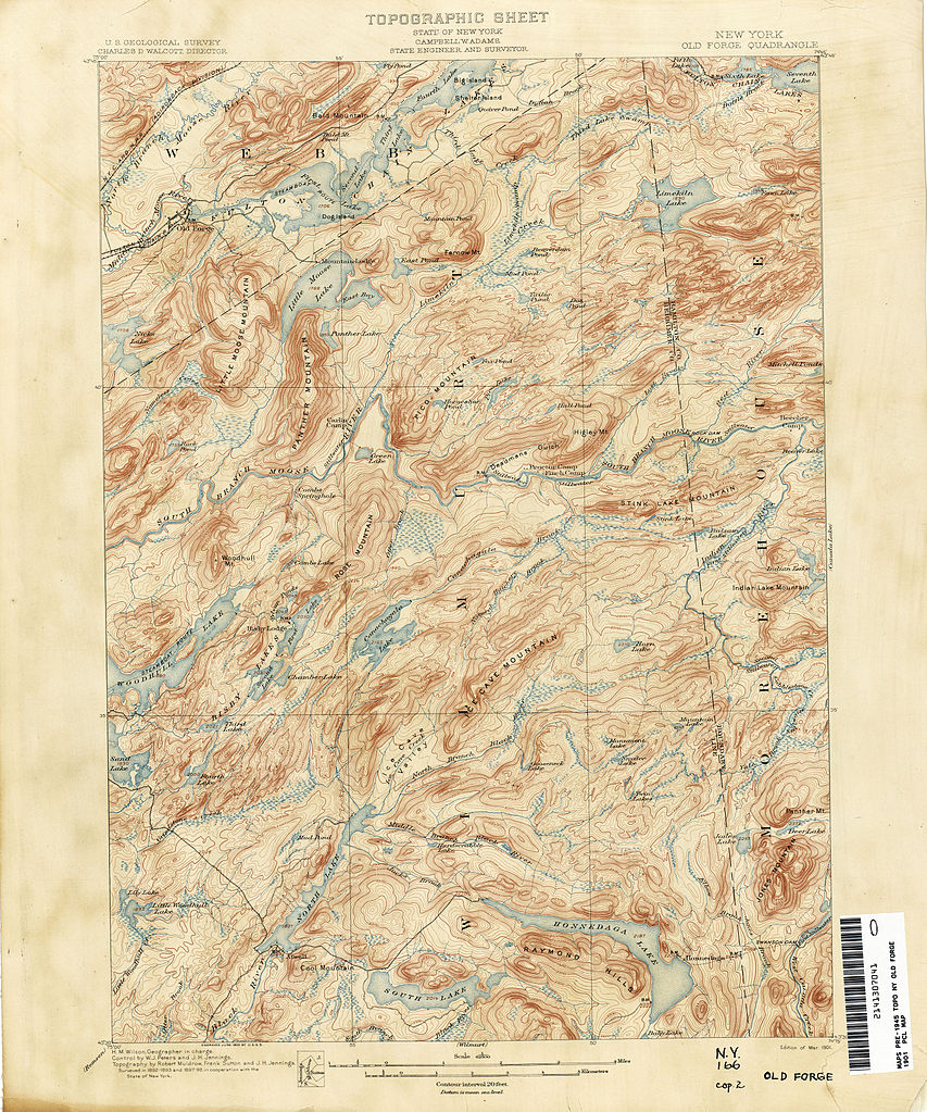 Topographic Map New York State.File Old Forge New York Usgs Topo Map 1898 Jpg Wikimedia Commons