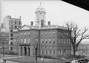 Old State House (Connecticut) - The Old State House, Hartford, Connecticut. Photograph taken in 1937 for the Historic American Buildings Survey