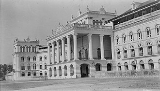 Kathmandu - The now demolished old royal palace in 1920