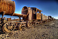 Old rusty train on desert near the town of Uyuni - October 2007.jpg