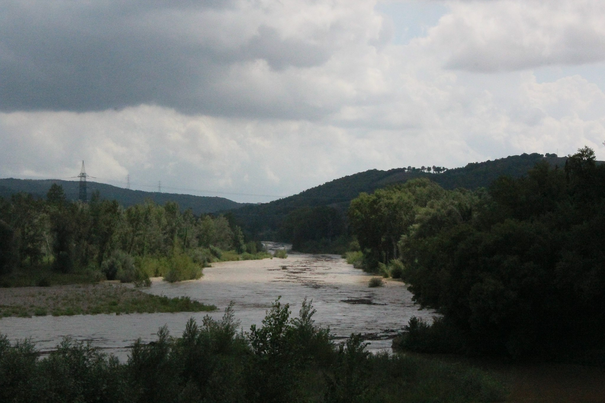 The Ombrone River in Paganico, part of Civitella Paganico [1]