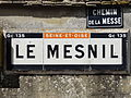 Omerville (95), plaque Michelin au hameau du Mesnil 2.JPG