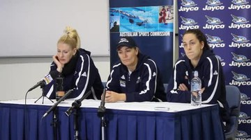 File:Opals press conference at AIS with Lauren Jackson, Carrie Graf and Jenna O'Hea (part 3).ogv